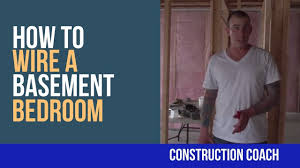 how to wire a basement bedroom diy youtube