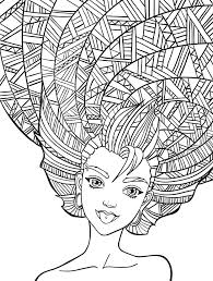 10 crazy hair coloring pages and funny eson me