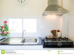 close up of the gas stove in kitchen room modern kitchen interior