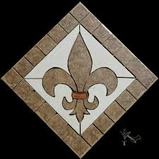 made to order allow 2 to 3 weeks 12 fleur de lis ceramic