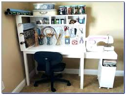Small Craft Desk Craft Desk With Storage White Image For Within Ideas 15