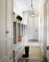 shadedwhite is the perfect colour for this contemporary mudroom