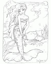 mermaid printable coloring pages free coloring home