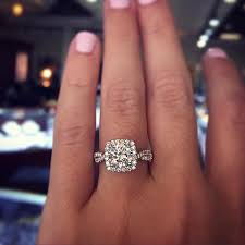 cushion cut engagement ring best 25 cushion cut engagement rings ideas on