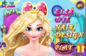 design hair game elsa dye hair design princess game