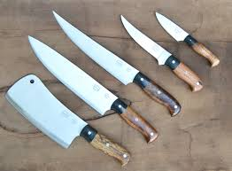 great set of custom knives completed weige knives custom chef