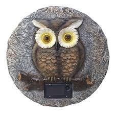 Owl Patio Lights by Moonrays Solar Powered Led Multi Colored Owl Garden Stone 91664