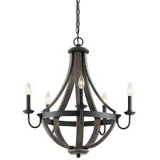 Kichler Lighting Kitchen Lighting by Kichler Lighting Merlot 25 In 5 Light Distressed Black And Wood