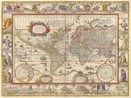 Nova Map 1635 World Map By Willem Blaeu Nova Totius Terrarum Orbis