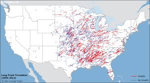 tornado map track tornadoes historical clues about intensity where and