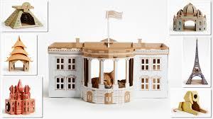 cardboard u0027landmark u0027 play houses for cats dogs u0026 small pets by