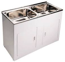 stainless steel laundry sink china double 45l stainless steel laundry sink tub with cabinet
