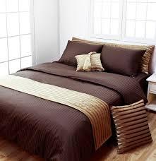 dark brown stripe hotel collection duvet cover set duvet cover