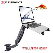 Desk Mounted Laptop Stand by Amazon Com Fleximounts M10 Laptop Wall Mount Swivel Gas Spring