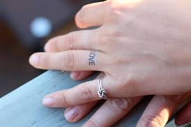 get the permanent expression of with a wedding ring