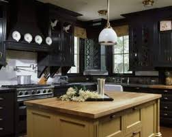 nice kitchen design with white countertops and black kitchen