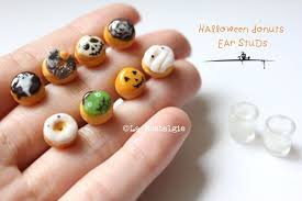halloween donuts earrings handmade jewelry by lanostalgie05 on