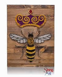 queen bee string art kit string art queen bees and diy string art