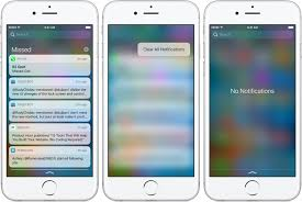 ios 10 tidbit clearing all notifications at once with a simple 3d