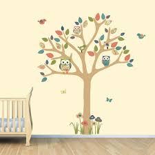 Brown Tree Wall Decal Nursery Nursery Wall Decal Owl Tree Decal Owl Owl Tree Wall