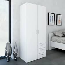 meuble chambre b space armoire chambre style contemporain blanc brillant l 78 cm