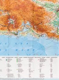 Geographical Map Dalmatia Istria Croatia Montenegro Slovenia Geographical