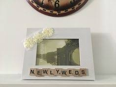 rugged home decor handmade frame display so blessed scrabble gifts rustic