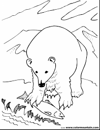 beautiful grizzly bear coloring pages with polar bear coloring
