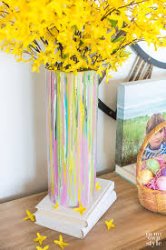 How To Paint A Flower Vase Painted Glass Vase For Springtime Decorating In My Own Style