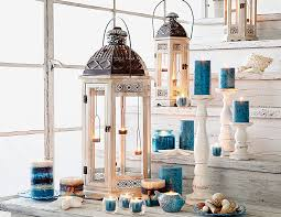 white wooden hanging tealight lantern fragrance featuring and