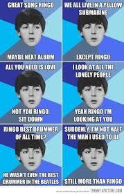 The Beatles Meme - poor ringo beatles