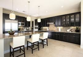 Black Kitchen Cabinets by What Countertop For Black Kitchen Cabinets And White Tile Flooring