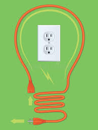 extension cord light bulb stock image image 27200241