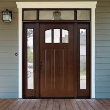 Exterior Door Options by Exterior Doors Craftsman Style Fir Textured Fiberglass Door With