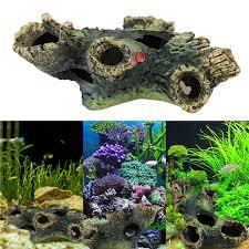 new aquarium decoration artificial wood fish tank decorative trunk