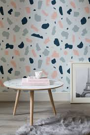 terrazzo is the new marble and designers are going crazy for it pink and blue terrazzo wall mural 25 per m courtesy of murals wallpaper