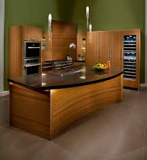 bamboo kitchen island kitchen bamboo kitchen featuring curved back wall in chocolate