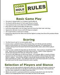 Backyard Football Rules Corn Hole Rules Good To Know The