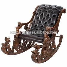 Wood Rocking Chair Luxury Wooden Swing Chair Room Carved Jhula Chair Antique Heavy