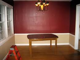 Red Dining Room Ideas In Vogue Black Polished Shade Chandelier Over Small Wooden Dining