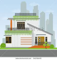 House Flat Design Various Front Door Design Houses Building Stock Vector 545795452