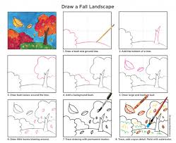 paint a fall landscape perspective fall trees and landscaping
