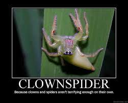 Huge Spider Memes Image Memes - clown spider meme slapcaption com here be fun stuff