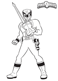 power rangers guard holding a sword power rangers coloring pages