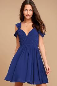 blue dress lovely royal blue dress skater dress formal dress 59 00