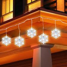 snowflake string of lights snowflake string lights holiday time led icicle 5 count large