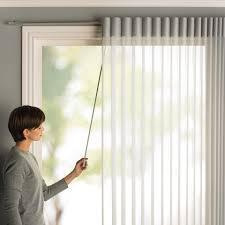 fashionable sliding door window treatments