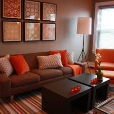 Orange Living Room Decor Living Room Brown And Orange Design Pictures Remodel Decor And