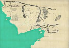 a map of middle earth lalaith s middle earth science pages a map of middle earth in the