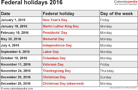 december 2016 holidays usa